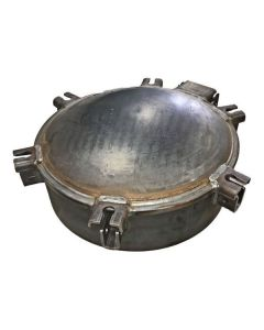 Steel Manhole Lid With 6 In. Collar, 6 In. Wingnuts Included