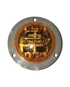 2 In. Yellow Led Marker Light And Flange