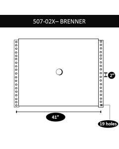 "Brenner Upper Coupler, 41"" X 2"", 10 Bolt Holes"