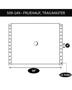 "Fruehauf/Trailermaster Upper Coupler, 39"" X 3"", 12 Bolt Holes"