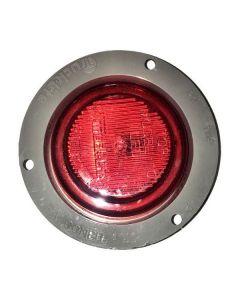 """Light, 2.5"""", Led, Red, Clear, Flange, Plug"""