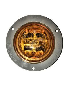 2.5 In. Yellow Led Clearance Light, Flange