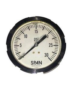 SPAN TANKER TRAILER 3.5 IN. 0-30 PSI BACKPORT GAUGE, LIGHTED