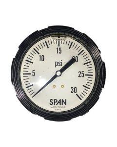 SPAN TANKER TRAILER 3.5 IN. 0-30 PSI BACKPORT GAUGE