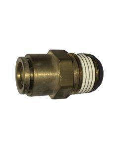 """AIR HOSE FITTING, PUSH ON, MALE CONNECTOR 3/8 IN. X 1/2"""""""