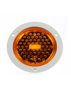 Super 44, LED Strobe, 42 Diode, Yellow, Metalized, Class II, Fit N' Forget SS, 12V, Flange