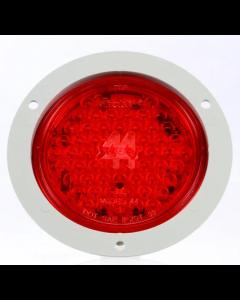 Super 44, LED Strobe, 42 Diode, Red, Class II Fit N' Forget SS, 12V, Flange