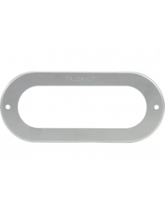 """2""""x6"""" Stainless Steel Flange Cover/Harness for Pulsating Light"""