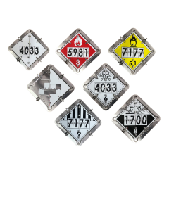 Dot Flip Placard For Tank Trailers