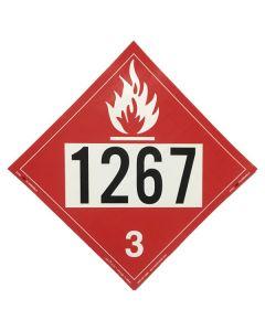 1267 Adhesive Back Placard
